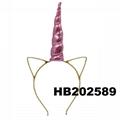 wholesale elastic unicorn horn head band 12