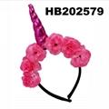 wholesale fashion flower unicorn horn