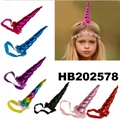 wholesale fashion flower unicorn horn hair band 5
