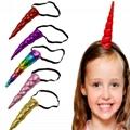 wholesale fashion flower unicorn horn hair band 8