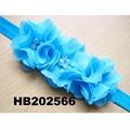 wholesale beautiful chiffon flower elastic baby hair band wholesale 2