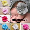 wholesale beautiful chiffon flower elastic baby hair band wholesale 3