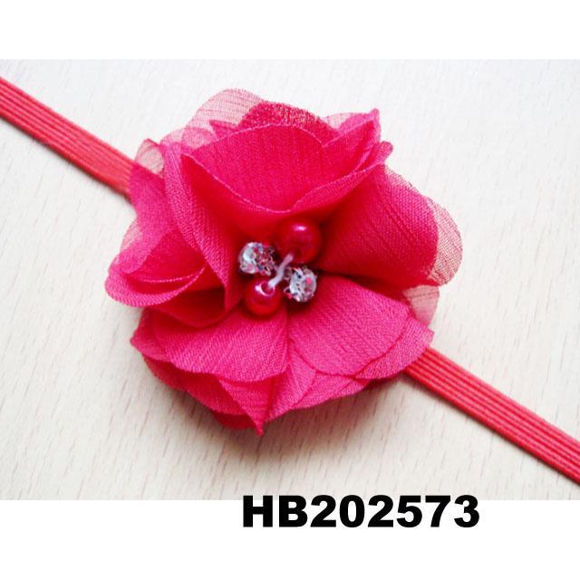 wholesale beautiful chiffon flower elastic baby hair band wholesale 4
