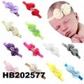 wholesale beautiful chiffon flower elastic baby hair band wholesale 6