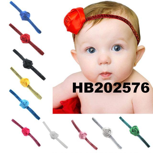 wholesale beautiful chiffon flower elastic baby hair band wholesale 11