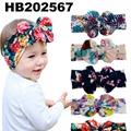 fashion milk silk bow flower elastic baby hairband wholesale