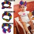 fashion milk silk bow flower elastic baby hairband wholesale 4
