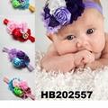 fashion milk silk bow flower elastic baby hairband wholesale 9