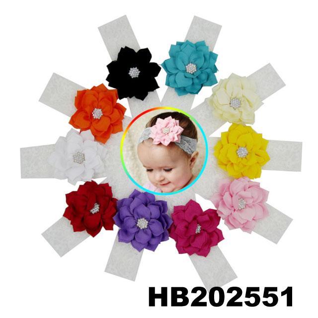 fashion milk silk bow flower elastic baby hairband wholesale 10