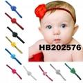 fashion milk silk bow flower elastic baby hairband wholesale 2