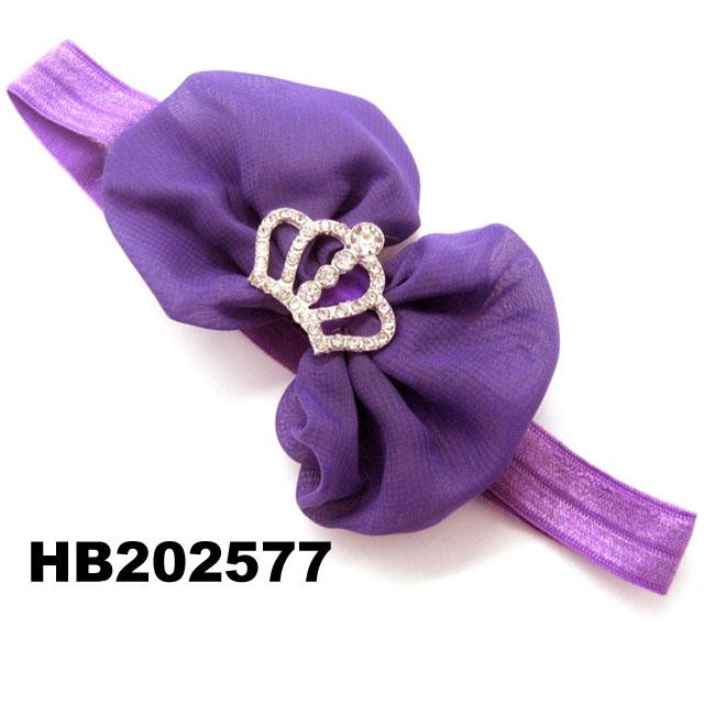 fashion milk silk bow flower elastic baby hairband wholesale 12