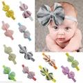 fashion milk silk bow flower elastic baby hairband wholesale 13