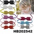 fashion milk silk bow flower elastic baby hairband wholesale 14