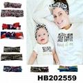 wholesale fashion parent child milk silk bow elastic hair band