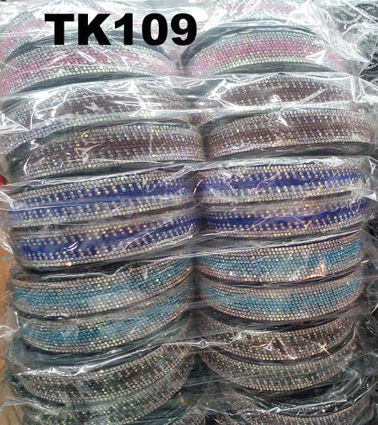 wholesale multi color crystal stone plastic hair band 1