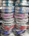 wholesale multi color crystal stone plastic hair band 4