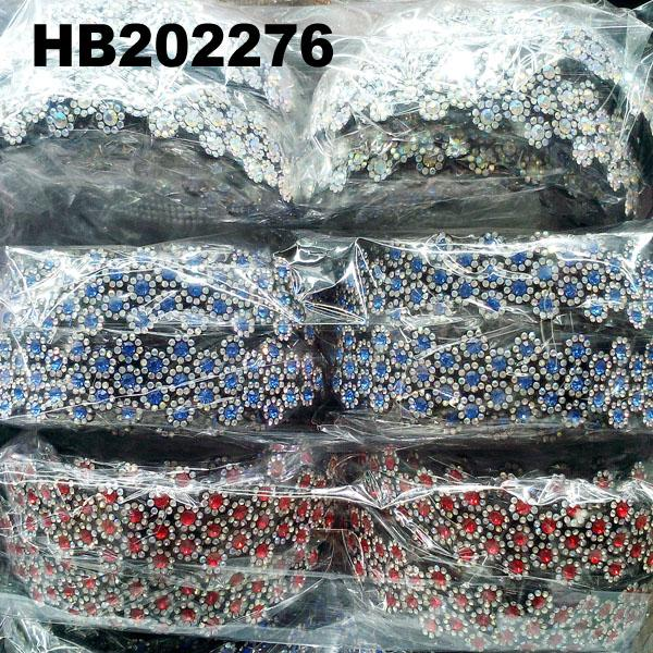 wholesale multi color crystal stone plastic hair band 13