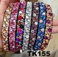 fashion diamante multi colored crystal stone flower plastic headband wholesale 5