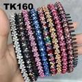 fashion diamante multi colored crystal stone flower plastic headband wholesale 7