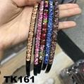 fashion diamante multi colored crystal stone flower plastic headband wholesale 9