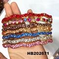 fashion diamante multi colored crystal stone flower plastic headband wholesale 12