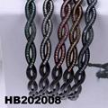 fashion diamante multi colored crystal stone flower plastic headband wholesale 13