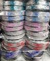 fashion diamante multi colored crystal stone flower plastic headband wholesale 15