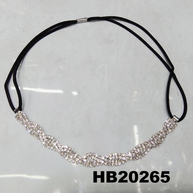 fashion women crystal stone elastic forehead headband wholesale 1