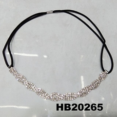 fashion women crystal stone elastic forehead headband wholesale