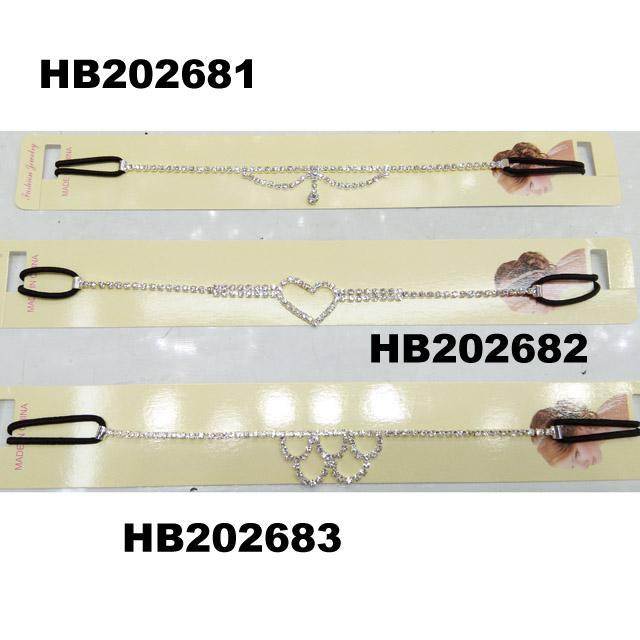 fashion women crystal stone elastic forehead headband wholesale 2