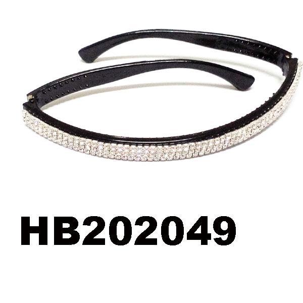 fashion clear crystal stone foldable folding plastic headband wholesale 1