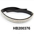 fashion clear crystal stone foldable folding plastic headband wholesale 3