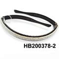 fashion clear crystal stone foldable folding plastic headband wholesale 4