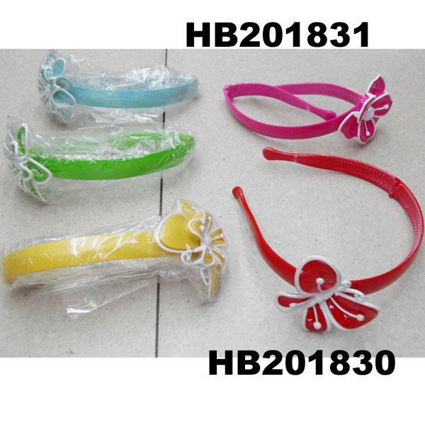 cute girls kids butterfly flower foldable folding plastic headband wholesale 1