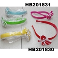 cute girls kids butterfly flower foldable folding plastic headband wholesale