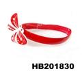 cute girls kids butterfly flower foldable folding plastic headband wholesale 2