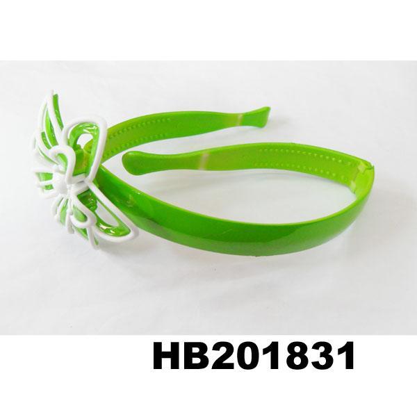 cute girls kids butterfly flower foldable folding plastic headband wholesale 5