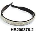 fashion clear crystal stone foldable folding plastic headband wholesale 2