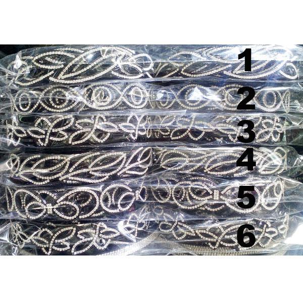 women ladies girls clear crystal stone plastic headband wholesale 1