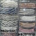 women ladies girls clear crystal stone plastic headband wholesale 7