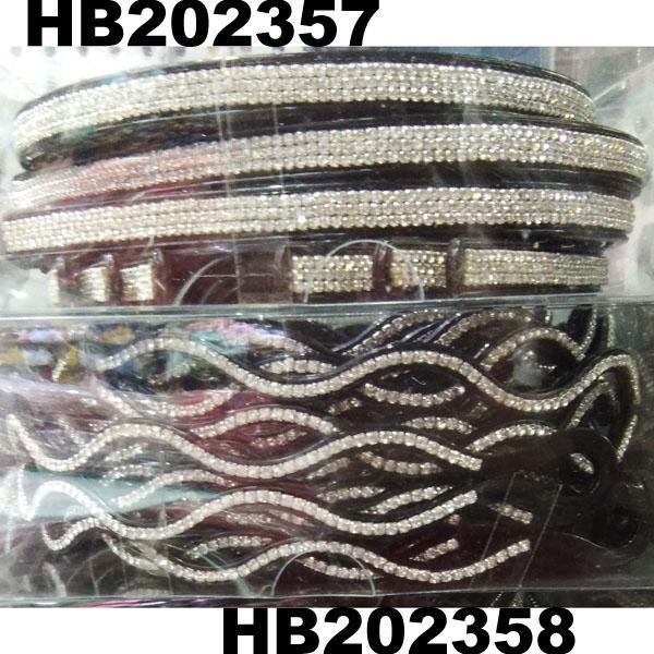 women ladies girls clear crystal stone plastic headband wholesale 9