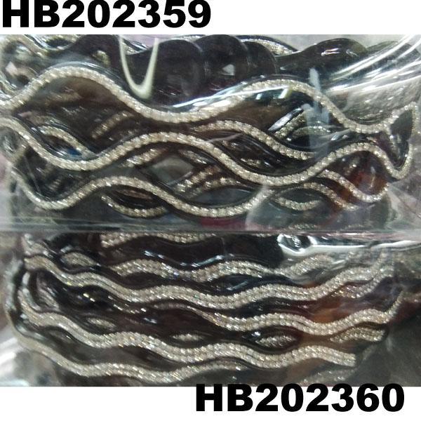 women ladies girls clear crystal stone plastic headband wholesale 11