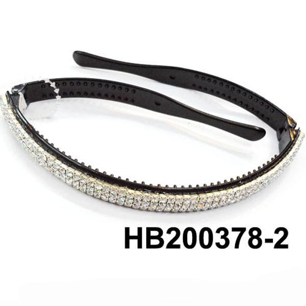 women ladies girls clear crystal stone plastic headband wholesale 12