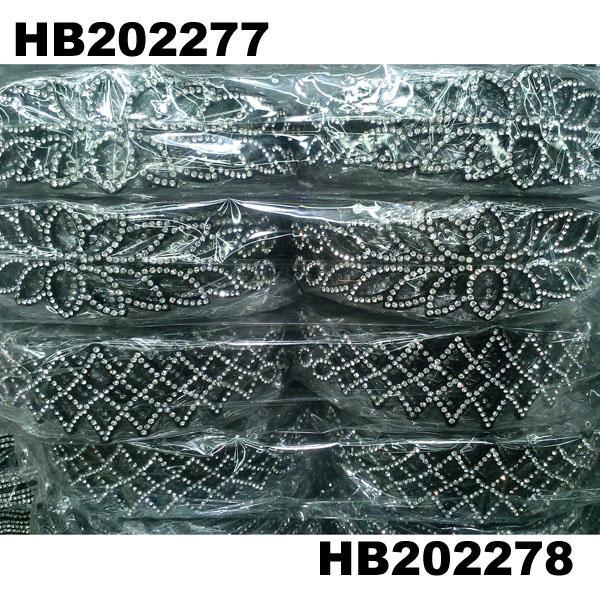 women ladies girls clear crystal stone plastic headband wholesale 13