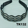 women ladies girls clear crystal stone plastic headband wholesale 14