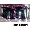 women ladies crystal stone flower plastic hair combs wholesale 2