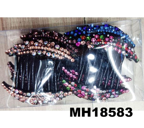 women ladies crystal stone flower plastic hair combs wholesale 3