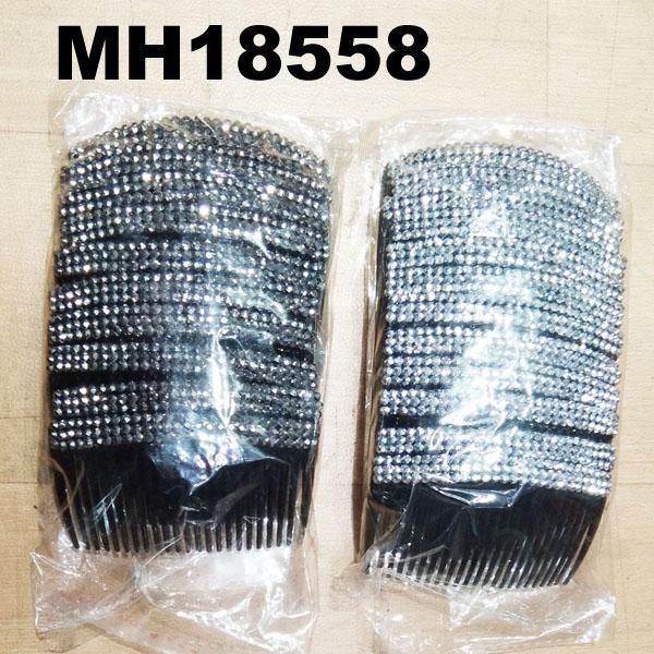 women ladies crystal stone flower plastic hair combs wholesale 5