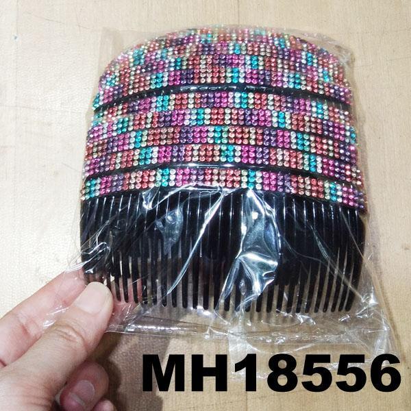women ladies crystal stone flower plastic hair combs wholesale 6