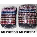 women ladies crystal stone flower plastic hair combs wholesale 9